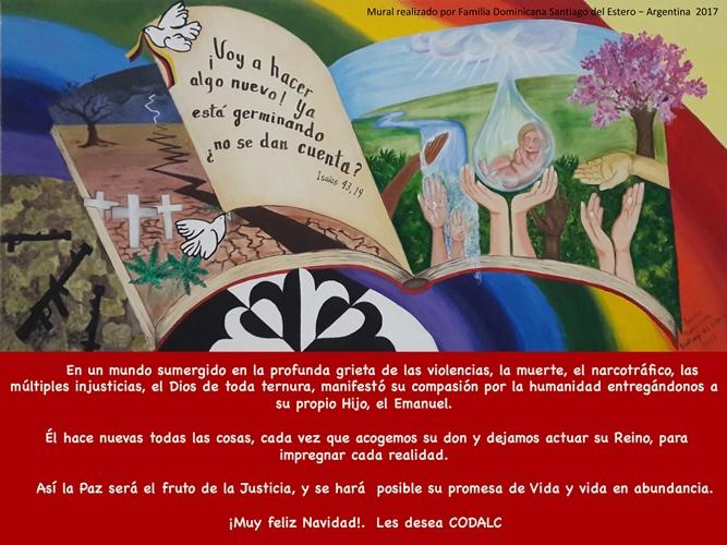 Saludo Navidad con Mural Paz 2017 Codalc