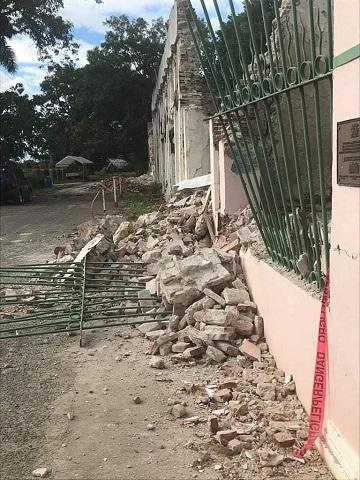 Casa afectada por un terremoto en Puerto Rico